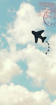 wallpaper | cute | travel | sky | traveling | fav | plane