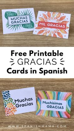 High School Spanish, Spanish Teacher, Teaching Spanish, Teaching French, Free Thank You Cards, Printable Thank You Cards, Spanish Activities, Class Activities, Spanish Thank You