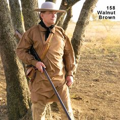 Check out the deal on Longhunter Pull-Over Hunting Shirt at Crazy Crow Trading Post Mountain Man Clothing, Mountain Man Rendezvous, Longhunter, Tac Gear, Costumes For Sale, American Frontier, Hunting Shirts, Theatre Costumes, Mens Gear