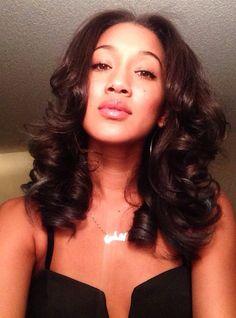 Gorgeous straight hair curls