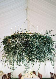 #whimsical, #olive-branch, #plants, #greenery, #wreath  Photography: Jose Villa Photography - josevillaphoto.com