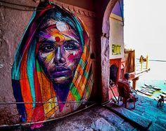 by Hopare in Varanasi, India, 3/18 (LP)
