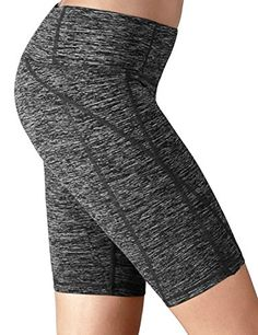 Yogareflex - Yoga Shorts for Women - Workout Fitness Yoga Short - Hidden Pocket (From XS to 2XL) , Charcoal , X-Large