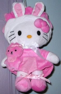 Hello Kitty pink bunny riding hood plush
