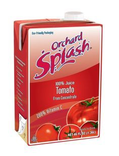 Ready to drink 100% #TomatoJuice by Orchard Splash is #savory and earthy and oh so good! Rich in Vitamin C, it's a #delicious way to help get daily nutrients. Be sure to keep some in the pantry – it needs no refrigeration until after opening.