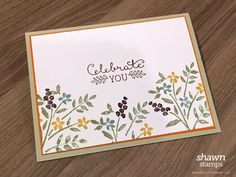 Number of Years floral card