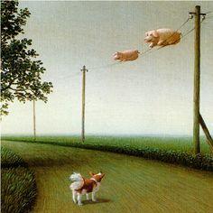 絵本でとても有名なミヒャエル・ゾーヴァの非現実的な絵画世界 | ARTIST DATABASE