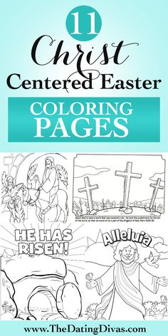 Free printable Easter coloring pages that tell the story of the last days of Jesus' life, his death and resurrection. Just print!