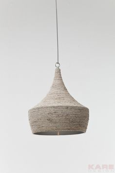 KARE - Absolutely Living Mad  Pendant Lamp Sisal Beige Ø42cm