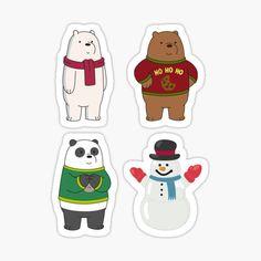 Cartoon Stickers, Tumblr Stickers, Cute Stickers, Ice Bear We Bare Bears, We Bear, We Bare Bears Wallpapers, Cute Wallpapers, Business Stickers, Bear Birthday