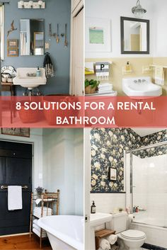 Great Roundup: 8 Solutions To Help Your Rental Bathroom | Curbly · Rental  DecoratingRental Home ...