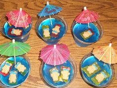 Teddy Graham Jell-o Cups, so fun to make and eat!!Check out New Millennium Girls - Cookin' n Crafts for Kids