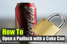 How to Open a Padlock with a Coke Can - SHTF, Emergency Preparedness, Survival Prepping, Homesteading