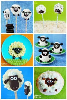 Sheep shaped treats are perfect for Easter or a farm themed party.