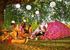 The camping tent that charges your devices | PureWow  I'm not entirely sure how I feel about this... It would come in handy on rainy days, but if you would sit in the tent during the nice days than I think it's a terrible idea. The last two camping trips my boyfriend and I went on it rained the whole time, that's a situation when a tent like this would have been awesome!