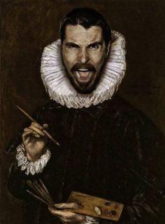 Modern Celebrities in Classic Paintings pics) . Christian Bale- Modern Celebrities in Classic Paintings pics) . Classic Paintings, Appropriation Art, Famous Artwork, Photo, Painting, Renaissance Portraits, Celebrity Art, Art Parody, Portrait
