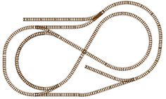 HO Scale Oval + Figure 8 Model Railroad Track Plan: HO Locomotive Oval and Figure 8