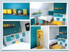 Décoration chambre enfant bleu et jaune … | Pinteres…