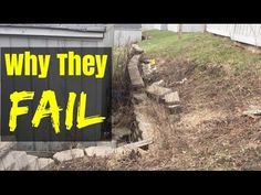 How to Build a Retaining wall (and why they Fail) - YouTube