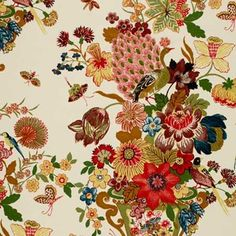 173070, Lansdale Bouquet, Spring, Schumacher Fabrics online site to order fabric