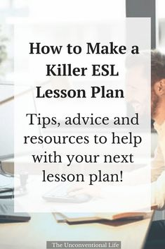 to Make a Killer ESL Lesson Plan Need help lesson planning? Find out how to create a Killer ESL Lesson plan in this informative and educational post. Learn how to structure your lessons easily with examples and tips to take your lessons to the next level! Esl Learning, Efl Teaching, Teaching Methods, Teaching Strategies, College Teaching, Learning Tools, Teaching Spanish, Teaching Ideas, Esl Lesson Plans
