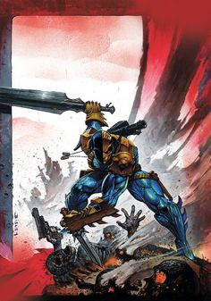 Deathstroke by Simon Bisley I might actually collect Deathstroke if it was illustrated like this.