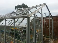 Big greenhouse under construction.the old one is inside for now.keeping the plants warm.