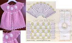 Resultado de imagem para receita vestido de croche infantil pinterest