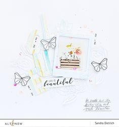 Altenew | Scrapbook Layout with Washi Tape Title