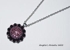 """Halskette """"Schwarz & Pink"""" von Angela`s Kreativ Welt auf DaWanda.com"""