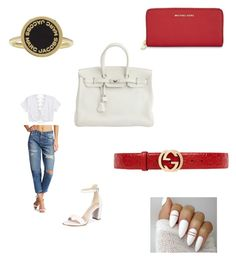 """Untitled #1426"" by tal-haliva on Polyvore featuring Joe's Jeans, Kenneth Cole, Hermès, MICHAEL Michael Kors, Gucci and Marc Jacobs"