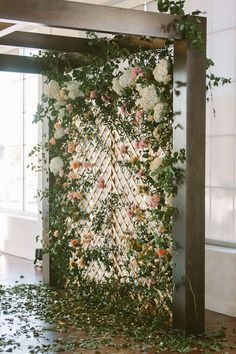chic wedding backdrop ideas with floral card content 10 Brilliant Flower Wall Wedding Backdrops for 2018 - Oh Best Day Ever Flower Wall Wedding, Diy Backdrop, Wedding Ceremony Backdrop, Ceremony Decorations, Wedding Flowers, Floral Backdrop, Wedding Reception, Wedding Backdrops, Reception Ideas
