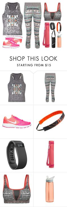 """""""Yoga Outfit 01"""" by basicstarks ❤ liked on Polyvore featuring Sweaty Betty, NIKE, Sweaty Bands, Fitbit, adidas, Björn Borg, CamelBak and Athleta"""