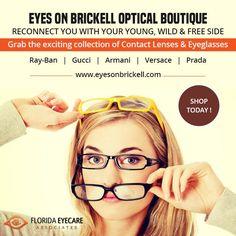 Brickell Miami, Contact Lens, Vintage Sunglasses, Eyeglasses, Versace,  Eyewear, Prada, Gucci, Glasses c55547e24755
