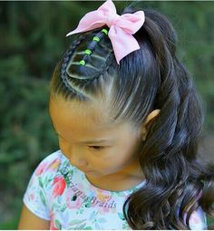 57 Cool Braids for Kids 2020 - Mr Kids Haircuts Little Girls Ponytail Hairstyles, Little Girl Ponytails, Kids School Hairstyles, Little Boy Haircuts, Cute Hairstyles For Kids, Girls Short Haircuts, Trendy Hairstyles, Toddler Hairstyles, Female Hairstyles
