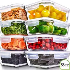 Prep Naturals Glass Meal Prep Containers – Food Prep Containers with Lids Meal Prep – Food Storage Containers Airtight – Lunch Containers Portion Control Containers Bpa-Free Ounce) – Online Cooking Store 1200 Calorie Meal Plan, Low Carb Meal Plan, Clean Eating Meal Plan, Meal Plans To Lose Weight, Diet Meal Plans, Clean Eating Recipes, Eating Plans, Eating Healthy, Meal Prep Containers