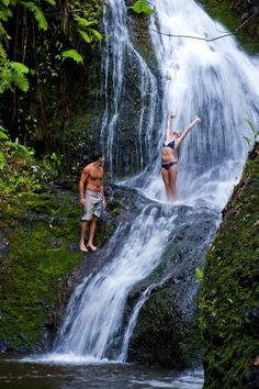 Next trip to Hawaii will include a hike to one of the amazing waterfalls. Can't wait......2015!?