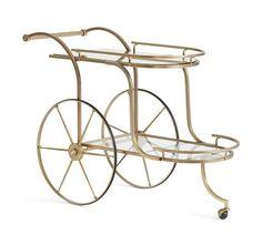Ken Fulk Admiral Bar Cart | Pottery Barn
