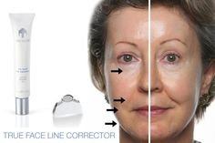 Tru Face Line Corrector- Comparison photo and picture of product.