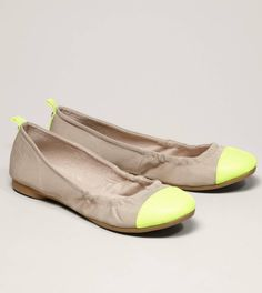 AEO Neon Cap-Toe Ballet Flat. I wear these almost everyday for something or another.