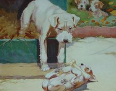 Popular items for terrier dog print on Etsy