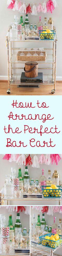 How To Artfully Arrange A Bar Cart