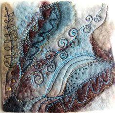 VENTE somptueux art textile de miniature par JackieCardytextiles