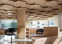 Idea MDF ceiling 07 #ceilingdesign #commercialdesign #interiordesignersdallas #dallasdesigner