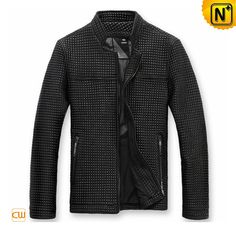 Men Leather Jackets Classics Fashion Checked Real Leather Jackets CW874168 $778.67 - www.cwmalls.com