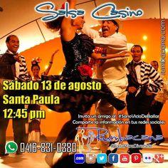 Hoy sábado 13/08 iniciamos #SalsaCasino en Santa Paula a las 12:45pm. Invita un amigo al #SanoVicioDeBailar Comparte la imagen en tus redes sociales #BailaSalsaCasino #Venezuela #Caracas #SantaPaula
