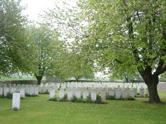Kandahar Farm Cemetery, Messines, Belgium. Soldiers who died while fighting on the Western Front, lay at rest, here.