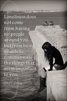 When no one tries to understand you, when they attack you for what you feel, that is when you know you are alone