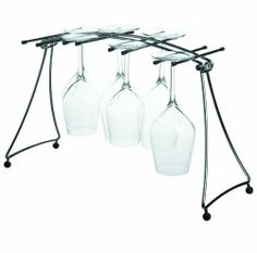 L'Atelier du Vin Collapsible Drying Rack for 8 Tasting Glasses by World Cuisine. $62.08. High quality. Chromed metal. Legs fold flat. Glasses dry quickly. Accomodates 8 tasting glasses. Let your tasting glasses dry without worry!  This drying rack accomodates 8 tasting glasses.  The legs fold flat for easy storage. It is constructed of chromed metal and has rubber tips.