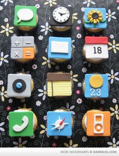 iPhone cupcakes! Only a photo, sorry.
